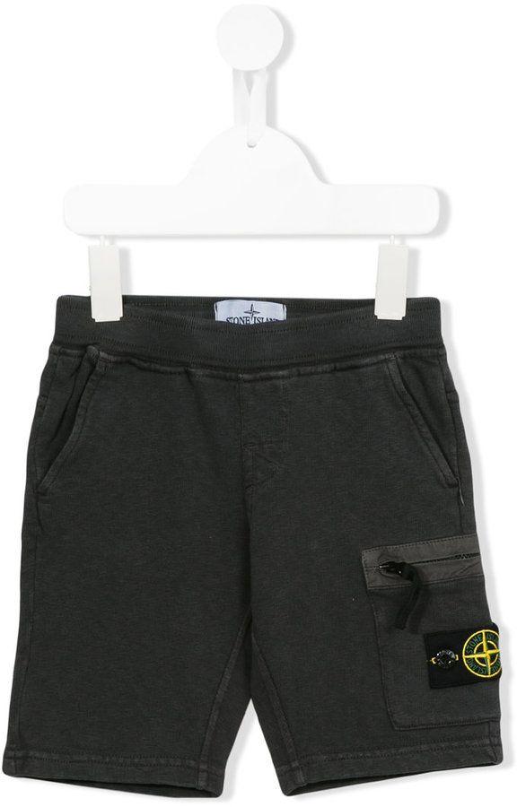 Stone Island Junior casual cargo shorts