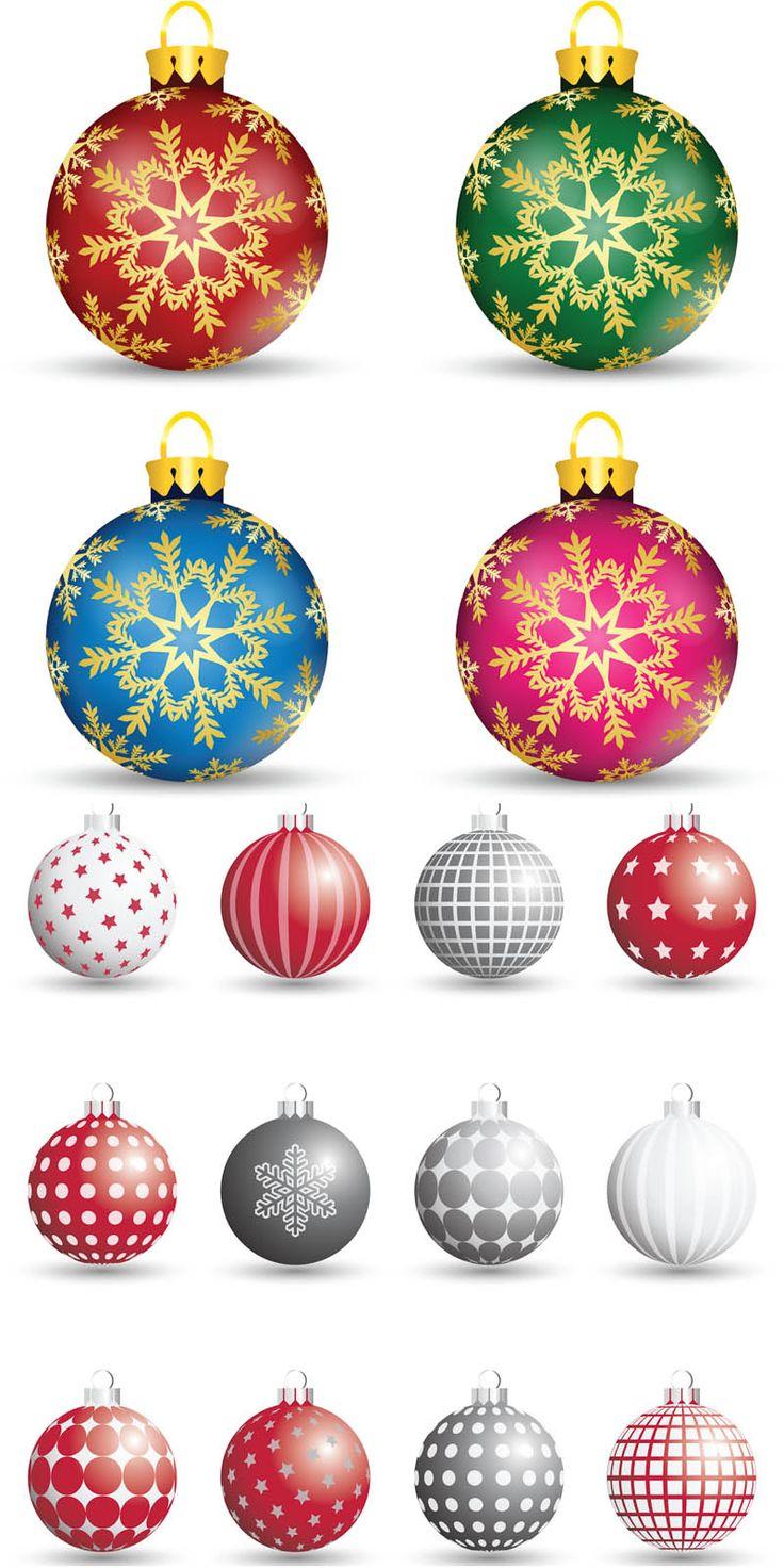 Decorative #Christmas tree balls #vector