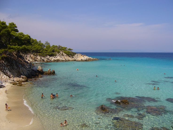 Yea !! This is Kavourotripes #beach in #Sithonia #Halkidiki  http://gohalkidiki.com