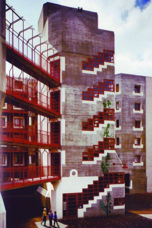Social Housing (1969-74) in Cologne, Germany, by Gottfried Böhm