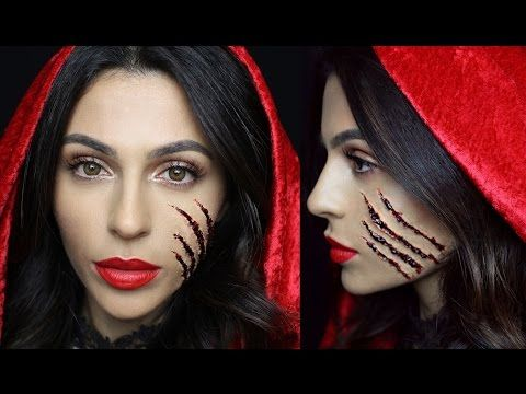 Halloween Makeup: Little Red Riding Hood - YouTube