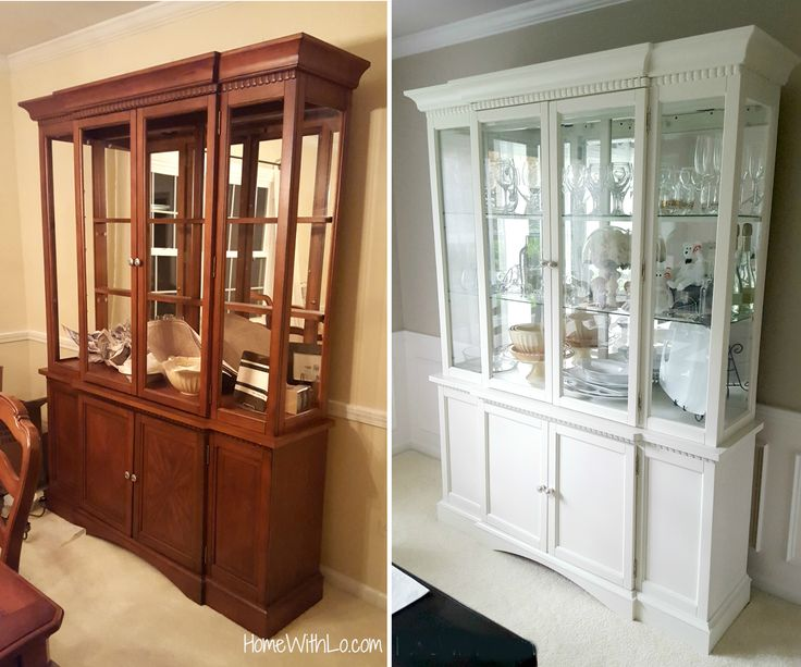 How I Painted A China Cabinet And Changed Out The Handles To Refresh Look Match Rest Of Furniture
