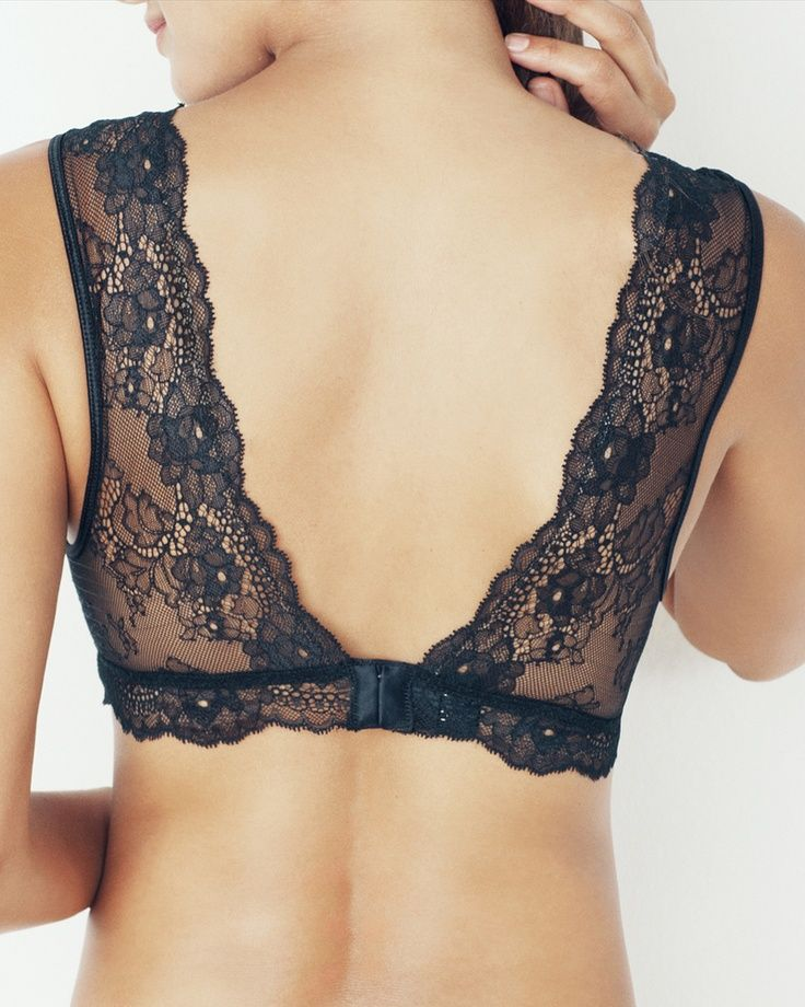 Lacy Bra: Pretty for backless shirts or dresses, ...