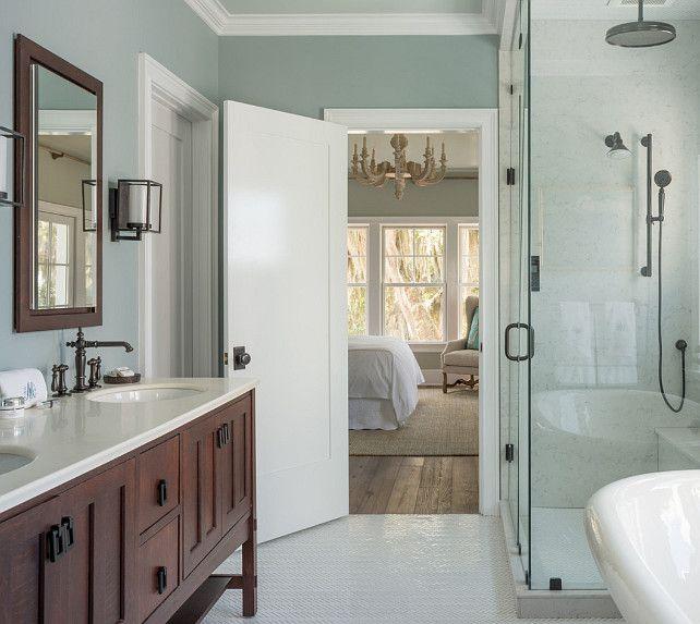 Bathroom. Bathroom with shower and bathrtub design. Bathroom Ideas. Bathroom Design #MasterBathroom #BathroomShower #BathroomBathtub #Bathroom  Reu Architects.