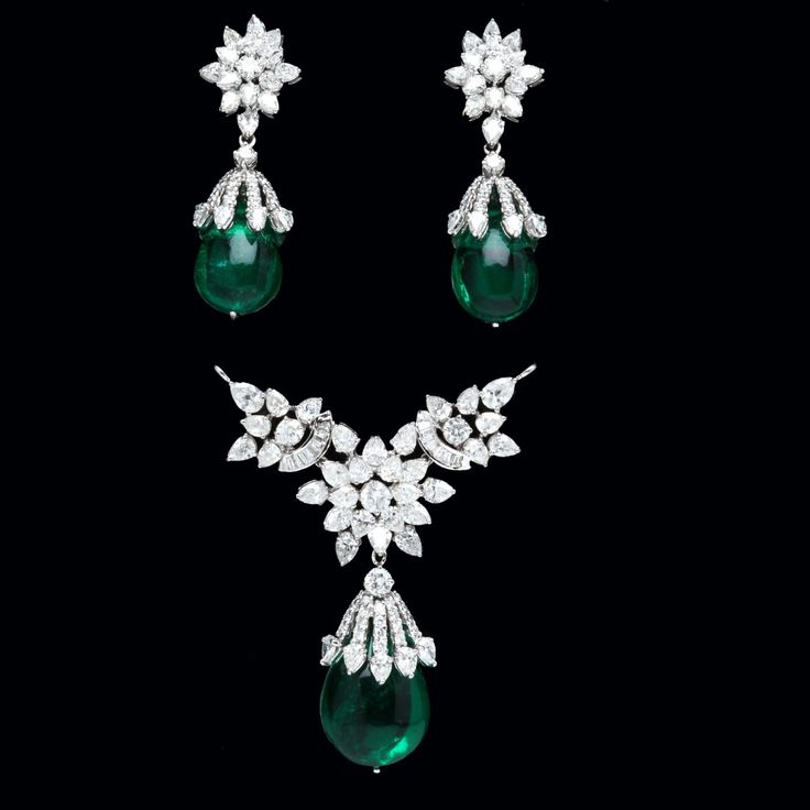 Emerald & diamond set from India