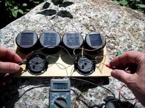 Make a solar battery charger using some dollar store path lights. Using 4 cheap dollar store garden lights you can make a very good solar AA or AAA battery charger for one or two batteries.    This is a simple solar garden light hack which gives you a decent solar charger worth about $20 if you were to buy it retail.    http://www.thediyworld.com/DI...