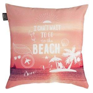 Het KAAT Beach Party sierkussen combineert het gewoon allemaal: strand, cocktails en een luie ligstoel!