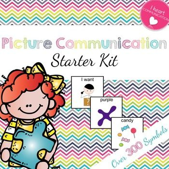 Ready to start the year infusing communication throughout the day?  Then this PICTURE COMMUNICATION STATER SET is for you!! This set has 20 pages of PICTURE COMMUNICATION PIECES, over 300 individual communication picture cards, which include the following vocabulary: Needs Craft/School supplies Colors Numbers 1-20 Shapes Feelings (Boy and Girl pages) Body Parts Clothing Preferred Items  43 pictures