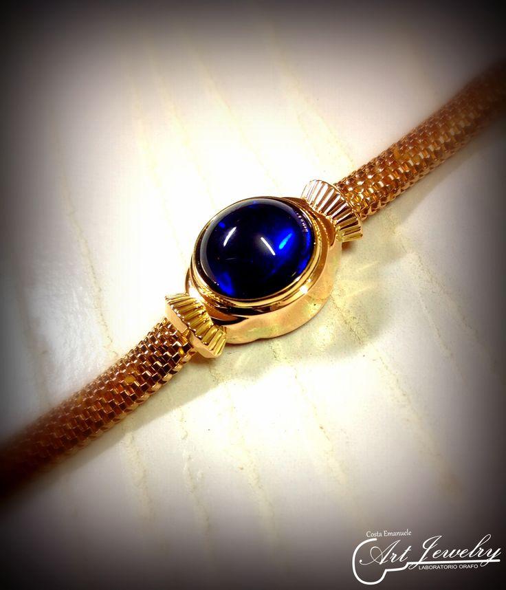 Rielaborazione terminata di un orologio. #jewellery #bluestone #watch  https://www.instagram.com/costaemanuele_artjewelry/ https://www.facebook.com/gioiellicosta  Photo editing: Noemi Barolo