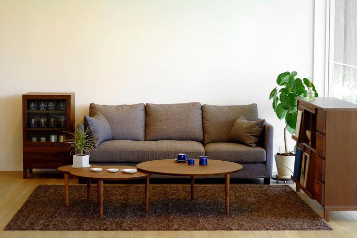 BALLOON 69-2枚テーブル AL[figh field]:ナチュラル,北欧,ライトブラウン系,Home's Style(ホームズスタイル)のローテーブルの画像