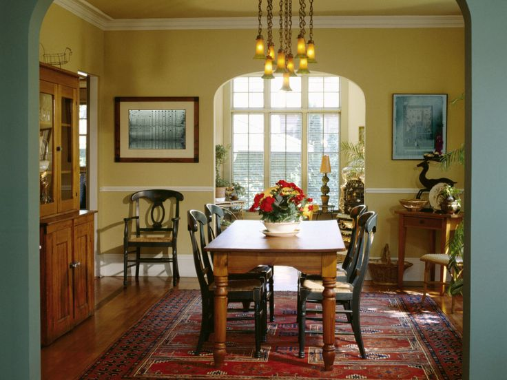 Dining Room Furniture Ideas For Yellow Small Space With Rectangle Shaped Traditional Brown Wood Tables