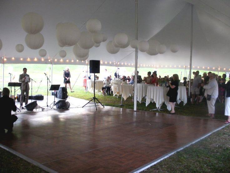Dance floor in Gore Mountain wedding tent