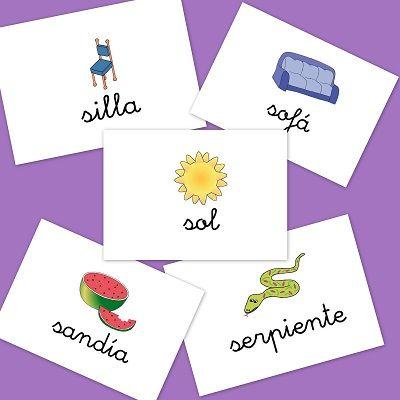 Fichas de imágenes para repasar vocabulario: Letra S