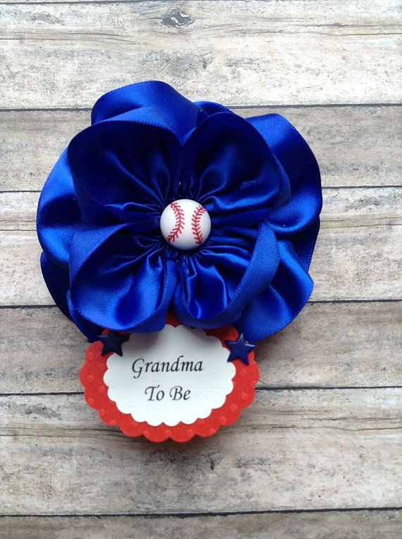 Baseball Grandma To Be Corsage or Baseball by AlittleSweetBowtique