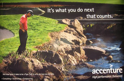 Tiger Woods Looses His Ball. In light of recent events, this advertisement takes on a whole new meaning.