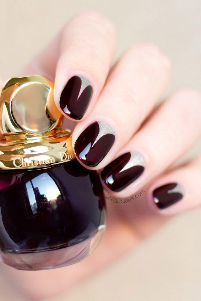 Christian Dior nail polish. Autumn nail style.