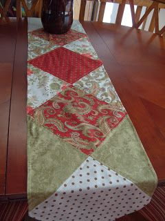 "I needed an easy table runner as a gift for a friend. I had Moda's Peace on Earth layer cake set - so I based the design off the 10"" square..."