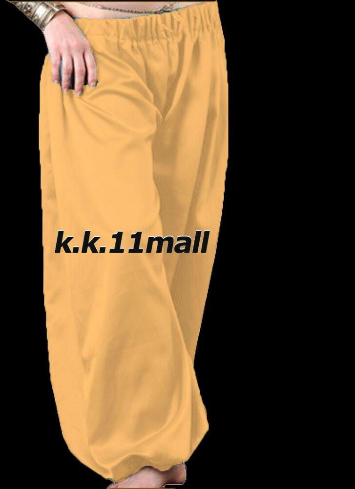 Black Harem Yoga Pant Belly Dance Costume Pantalons Trouser Genie Halloween