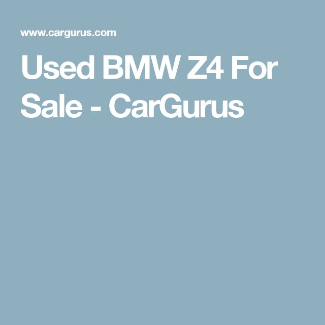 Used BMW Z4 For Sale - CarGurus