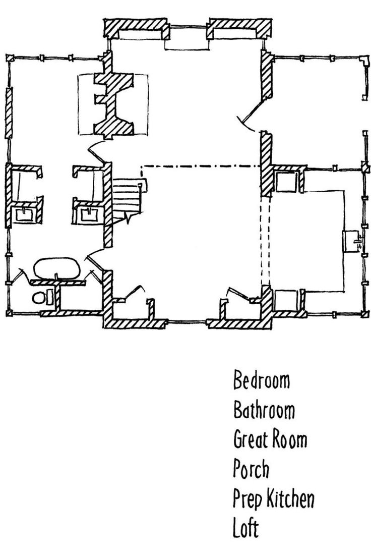 Cottage Kitchen Floor Plan
