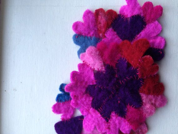 Handmade Felt Heart Coaster by BritishBoho on Etsy