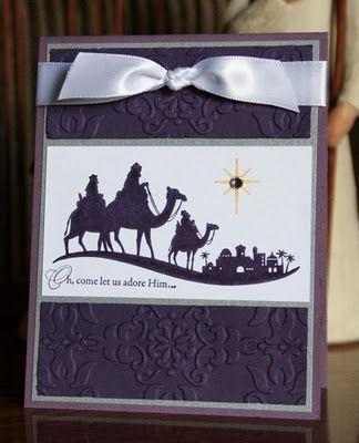 Stampin' Up!  Come To Bethlehem  #120591  Krystal De Leeuw  Christmas Card