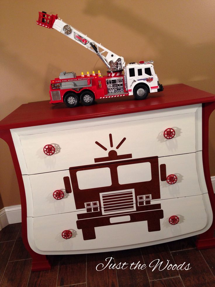 Fire truck dresser. Donated to Be the hero for a hero foundation