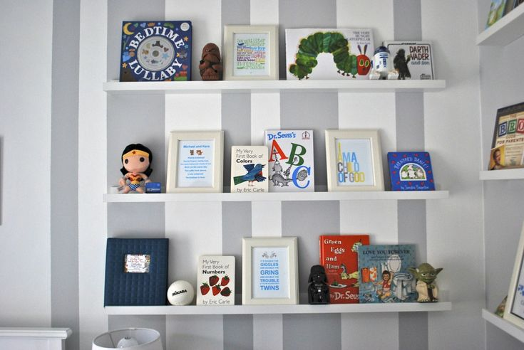 Project Nursery - Floating shelves from ikea