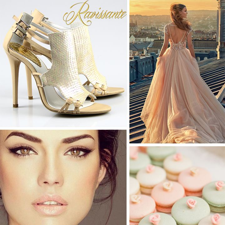 The warm sunset lights can be a great inspiration. If you're not the white type of bride, maybe nude is more your shade!