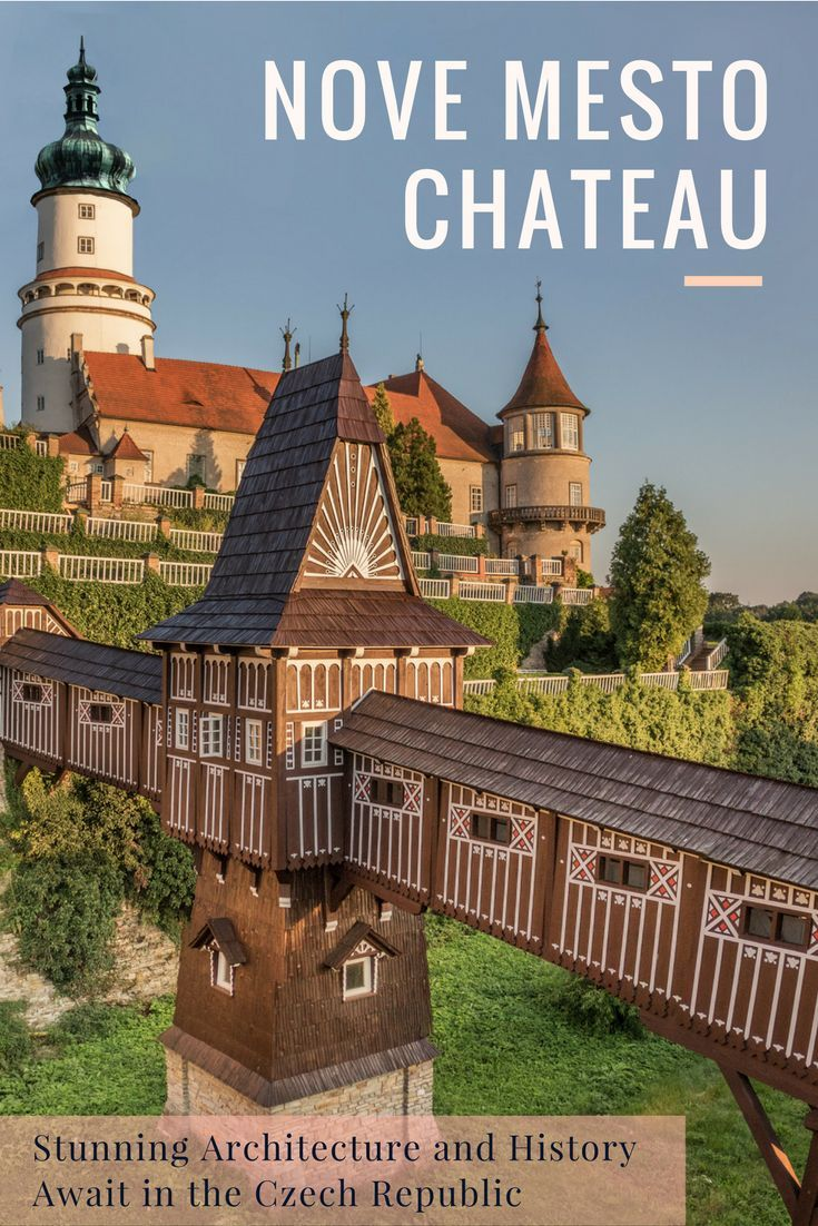 Chateau Nove Mesto nad Metuji: Visit this stunning chateau in the Czech Republic that rebuilt at the beginning of the 20th century by architects Dusan Jurkovic and Pavel Janak. Stunning architecture and history awaits in the Czech Republic. Click here for more!