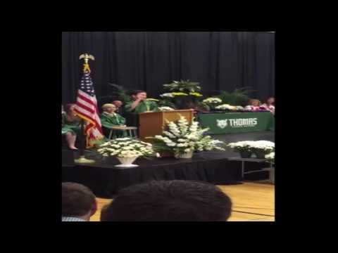 8th-Grader Impersonates Presidential Candidates in Entertaining Graduation Speech