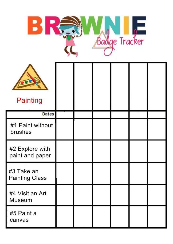 painting badge tracker girl scouts pinterest badges