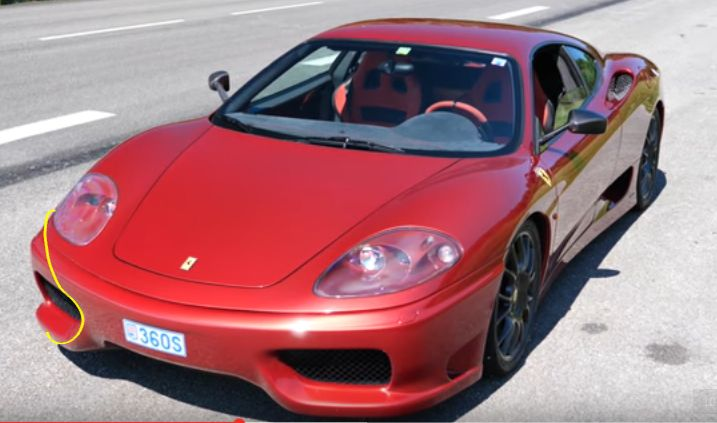 The Stradale is a pretty car but just look at that squared off front bumper. I should be curved like my yellow line...otherwise it is box shaped. Also, the lamp surrounds in body colour make those big clear covers look like cheap clamshell packaging.