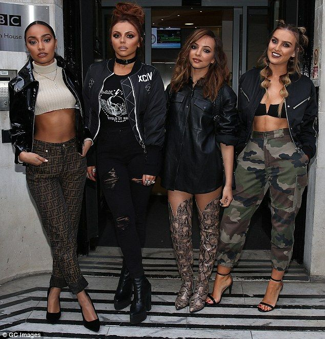 Awesome foursome: Little Mix arrived in style at BBC Radio 2 in London on Saturday to prom...