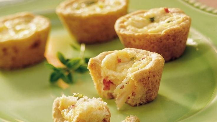 Satisfy nibblers with easy-to-grab mini-sized quiches. Be a step ahead and use the make-ahead recipe tip.