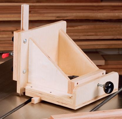 Adjustable tenoning jig project for table saw