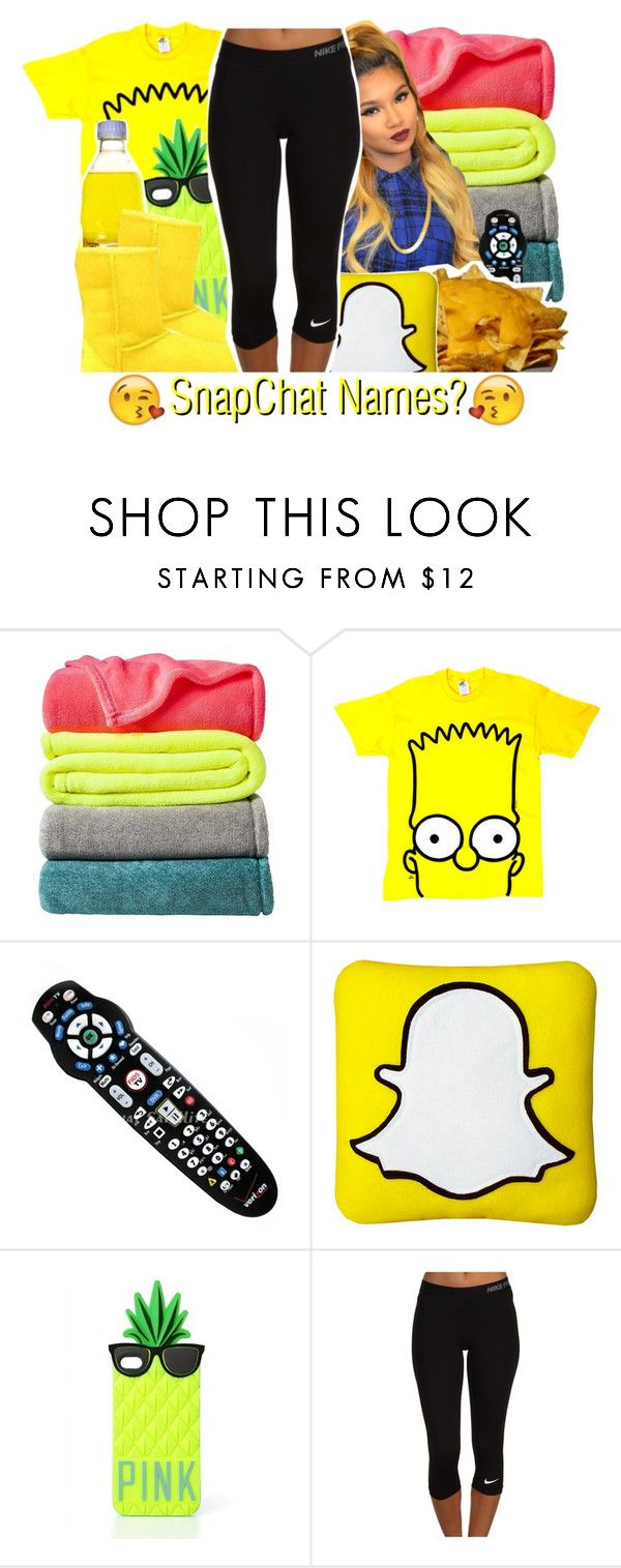 """Comment your snapchat names and i'll add you. But you guys better add back"" by majiah-boo ❤ liked on Polyvore featuring Room Essentials, Victoria's Secret PINK, UGG Australia and NIKE"