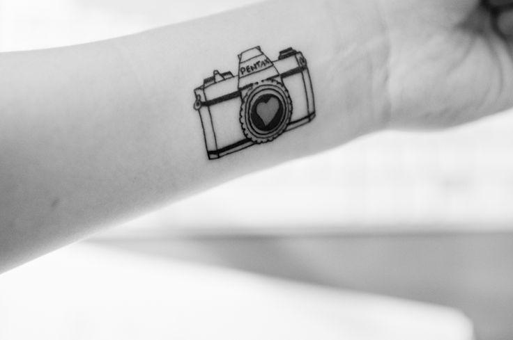 Heart Shutter Camera Tattoo On Wrist