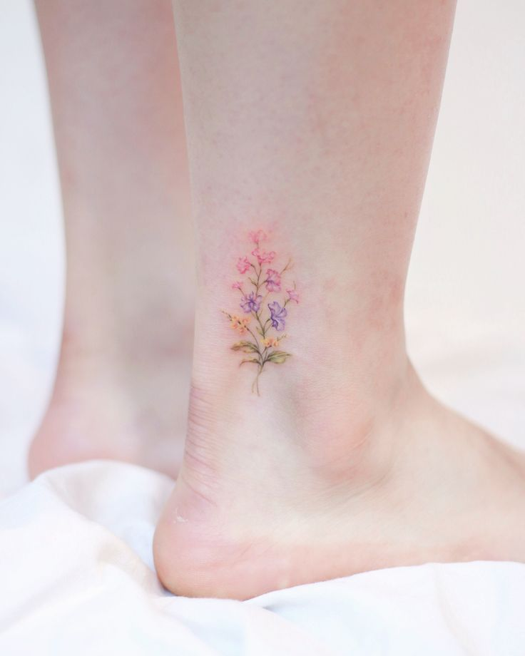 40 Most Adorable Small Flower Tattoos for Women #tattoos #tattooideas #tattoodes… #flowertattoos
