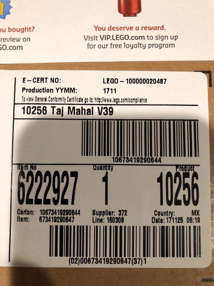Lego Taj Mahal 10256 Ready to Ship Mint  Sealed in Box