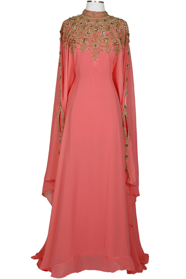A Covered Bliss top-pick and BEST SELLER. The Athena kaftan is beyond elegant with extraordinary goldenembellishments across the shouldersand along the sleeves. The hidden waist strapinside adds flexibility in adjusting the desired fitting.Whether you like it form fitting or loose, this kaftan will create a perfect look for any occasion.  Size and Care Guide: …