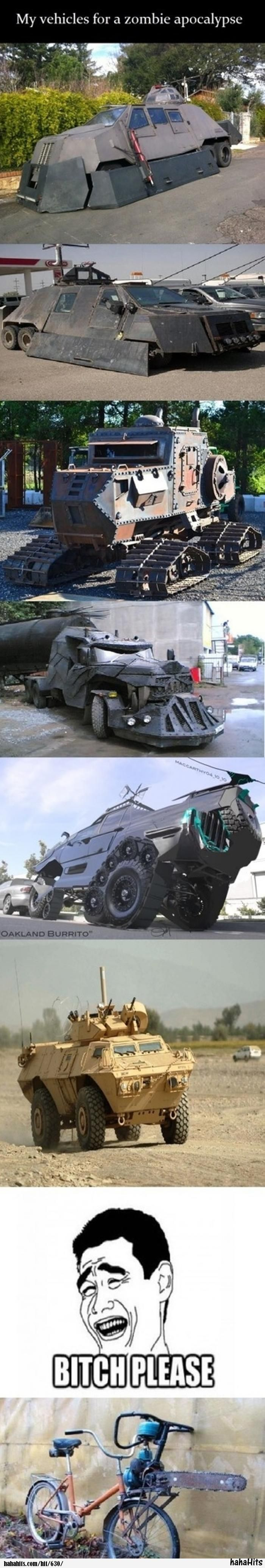 Vehicles for a Zombie Apocalypse