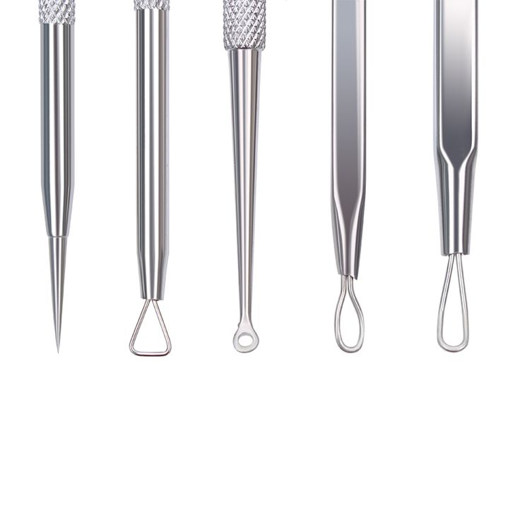 5Pcs BORN PRETTY Blackhead Acne Needle Stainless Steel Pimple Comedone Extractor Remover Tool Kit Professional Makeup Tools