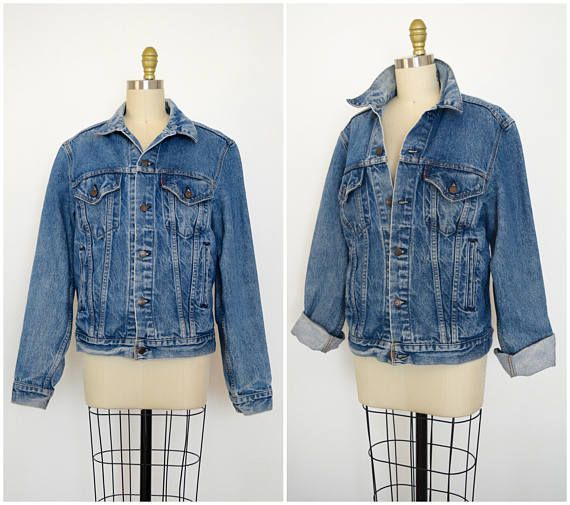 Vintage Levis Jacket/ 70s 80s Levi Strauss Distressed Denim