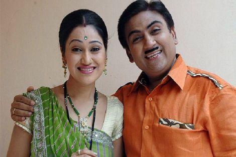 Disha Vakani and Dilip Joshi in TV serial