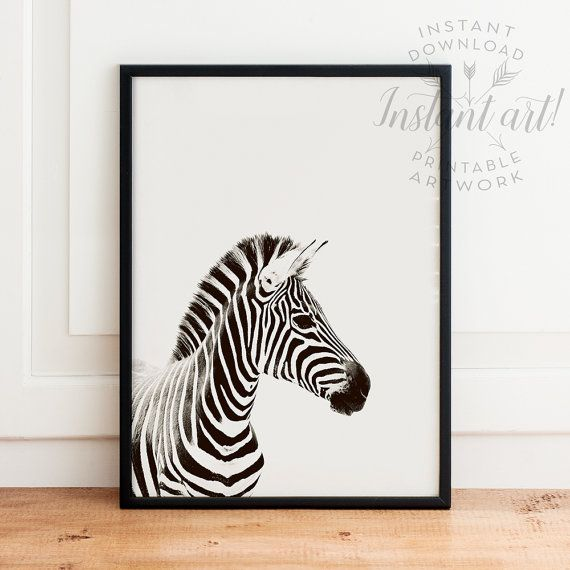 Animal Print PRINTABLE art zebra print safari by TheCrownPrints
