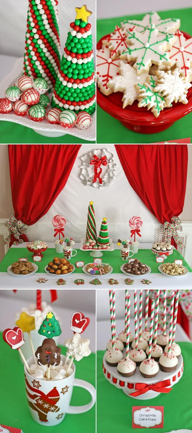 Christmas dessert table decoration ideas - Christmas Cookie Exchange Party Christmas Sweet Tablechristmas