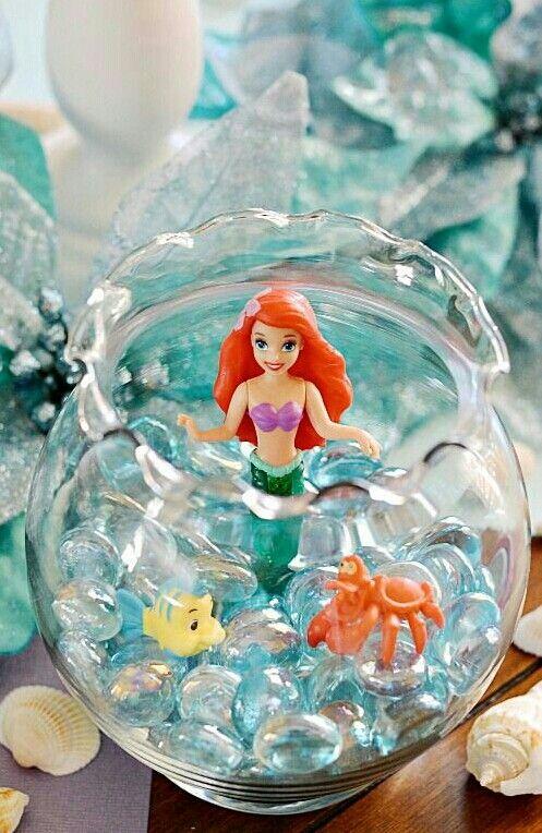 204 melhores imagens sobre Festas no Pinterest Mesas, festas da Disney e Chá de beb u00ea -> Enfeites De Mesa Tema Sereia