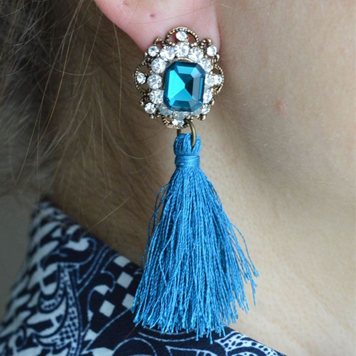 Turquoise Tassel Earrings #turquoise #tassel #earrings #sale