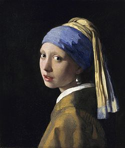 Girl With a Pearl Earring, 1665, Johannes Vermeer~This gorgeous painting is at the de Young in San Francisco until 6-1-13. It rarely leaves the Netherlands. Check it out! It is stunning!